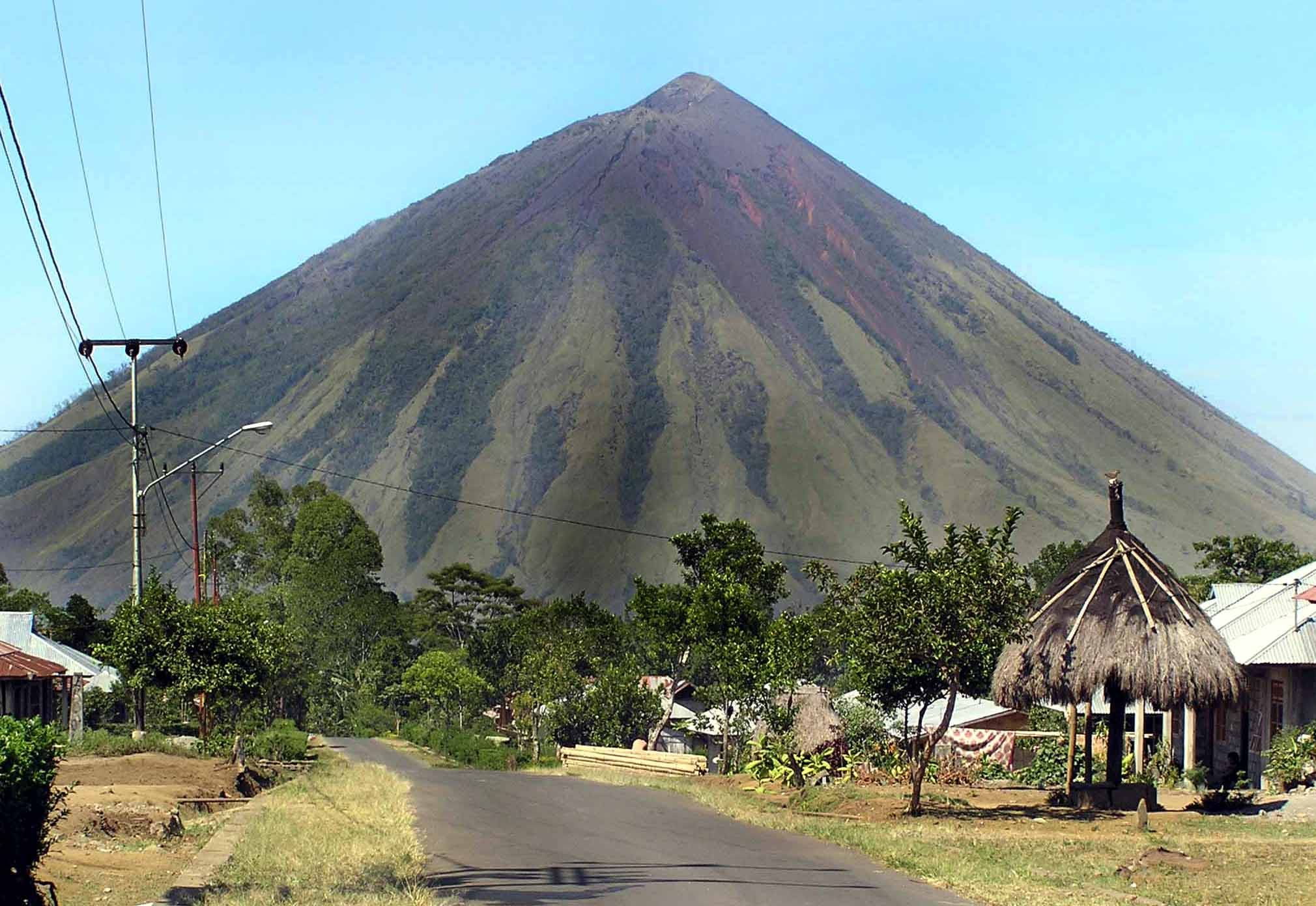 Bajawa Indonesia  city images : Mount Inerie with its beautiful, harmonic pyramid shape, is an eye ...