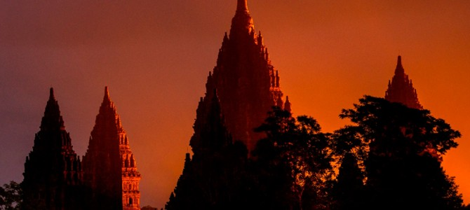 Heavenly Sunset at Prambanan Temple