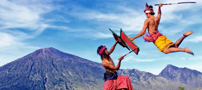 'Peresean' Rattan Stick Fighting, Lombok