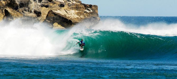 Surfing in Pacitan, East Java