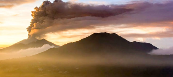 Mount  Agung, Bali's sacred mountain's eruption