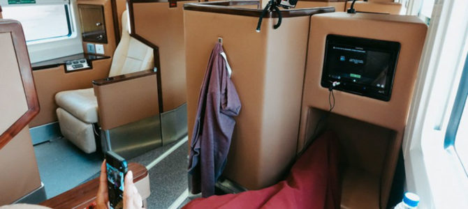 Speed through Java in Indonesia's luxurious sleeper train