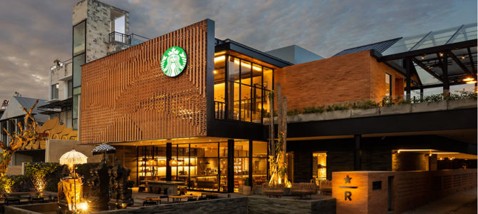 Southeast Asia  Largest Starbucks in Bali, Indonesia